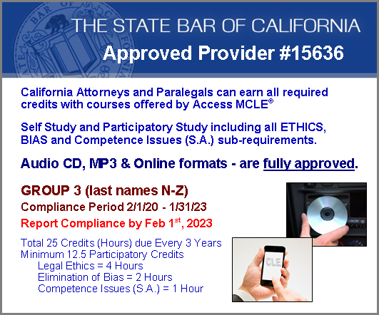 CA State Bar CLE Requirments